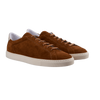 CQP Snuff Brown Suede Racquet Sneakers Front