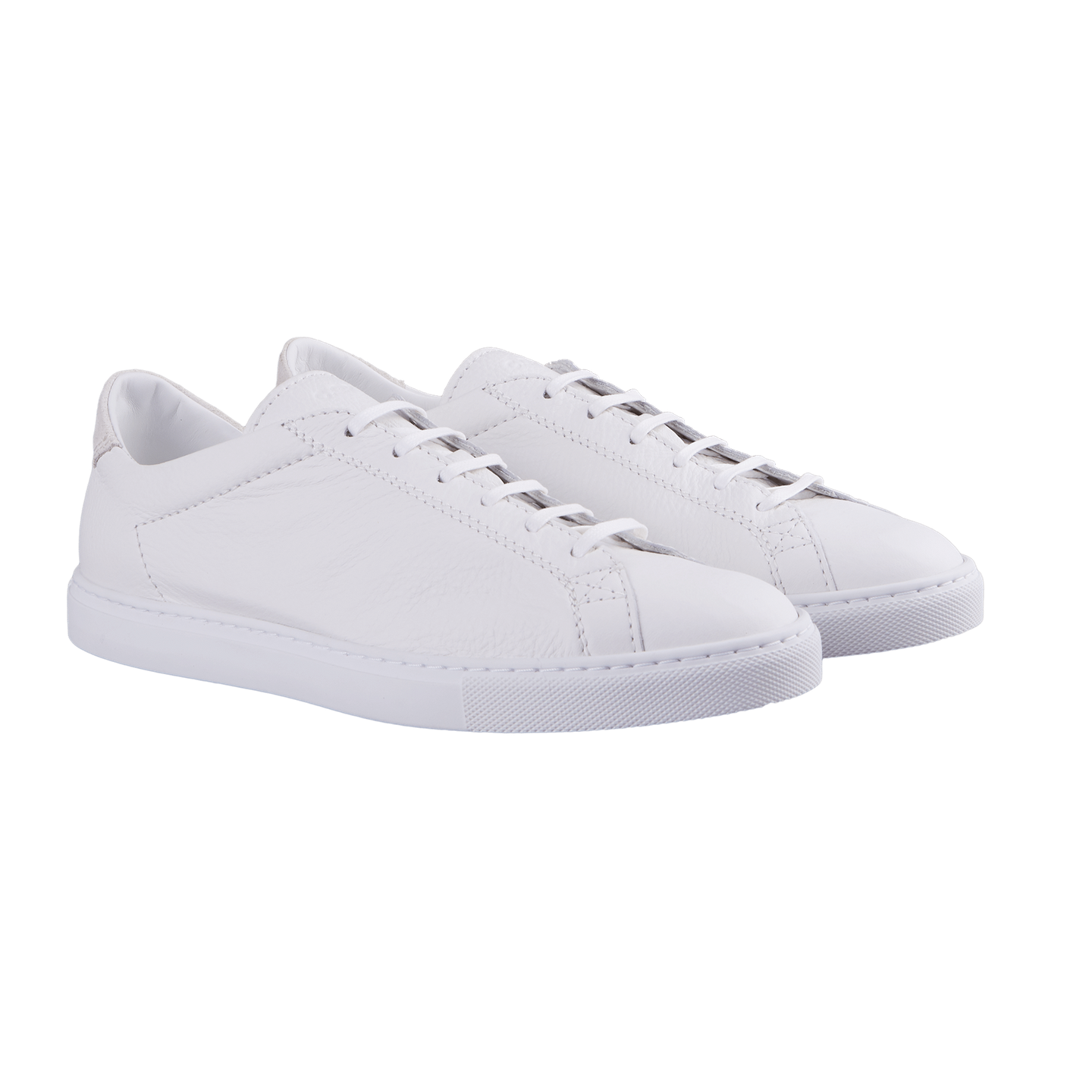 CQP White Suede Racquet Sneakers Front