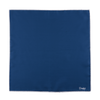 Drake's Navy White Classic Silk Shoe String Pocket Square Feature