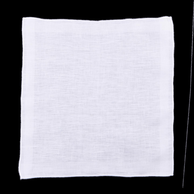 Drake's White Pure Linen Pocket Square Feature