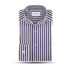 Eton Dark Blue Striped Slimline Shirt Feature