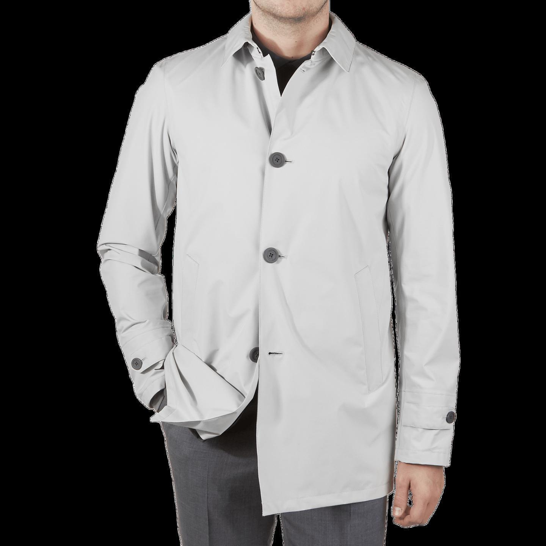 Herno Beige Laminar Coat Front