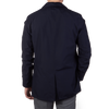Herno Navy Laminar Coat Back