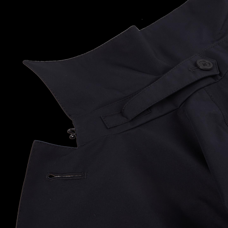 Herno Navy Laminar Coat Collar