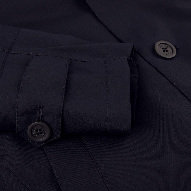 Herno Navy Laminar Coat Cuff