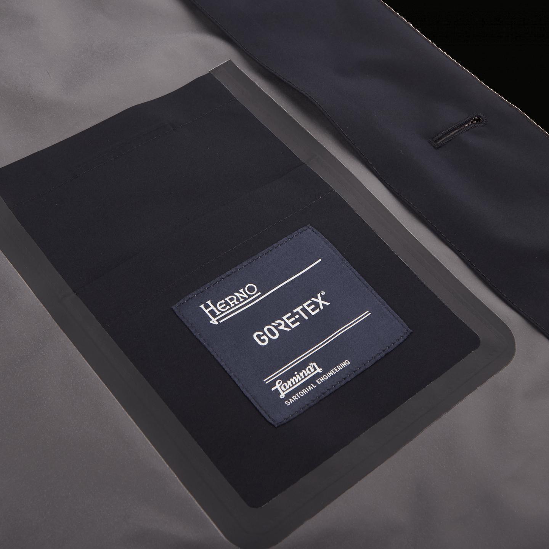 Herno Navy Laminar Coat Inside