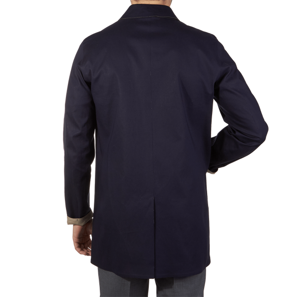 Herno Navy Reversible Waterproof Coat Back