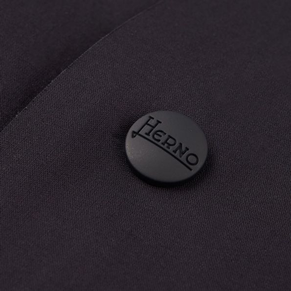 Herno Navy Reversible Waterproof Coat Button