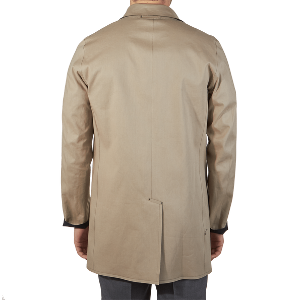 Herno Navy Reversible Waterproof Coat Inside Back