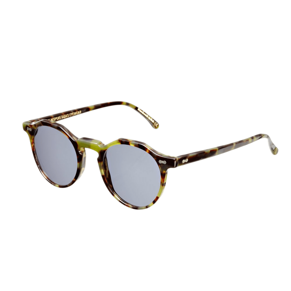 Lapel Green Tortoise with Gradient Grey Lenses Feature