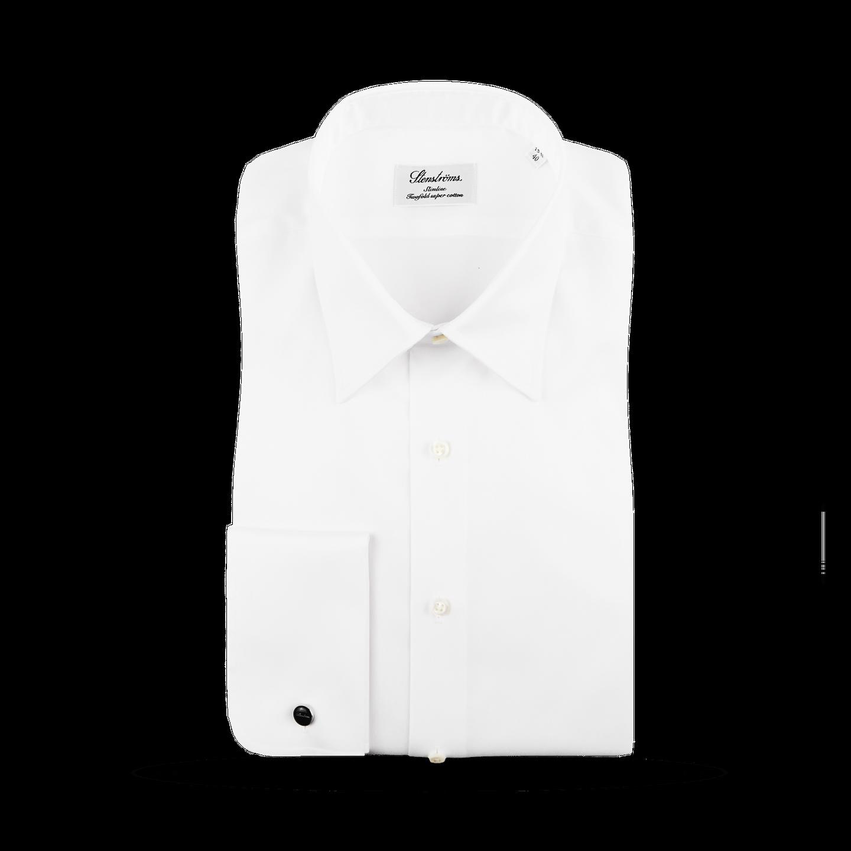 Stenströms White Double Cuff Slimline Shirt Inside