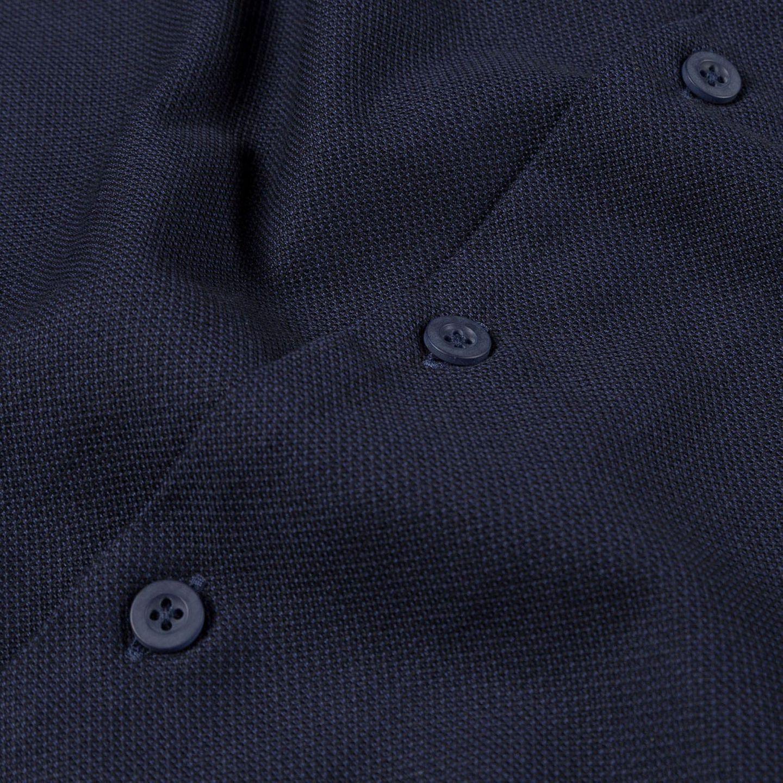 Sunspel Navy Short Sleeve Jersey Polo Shirt Button