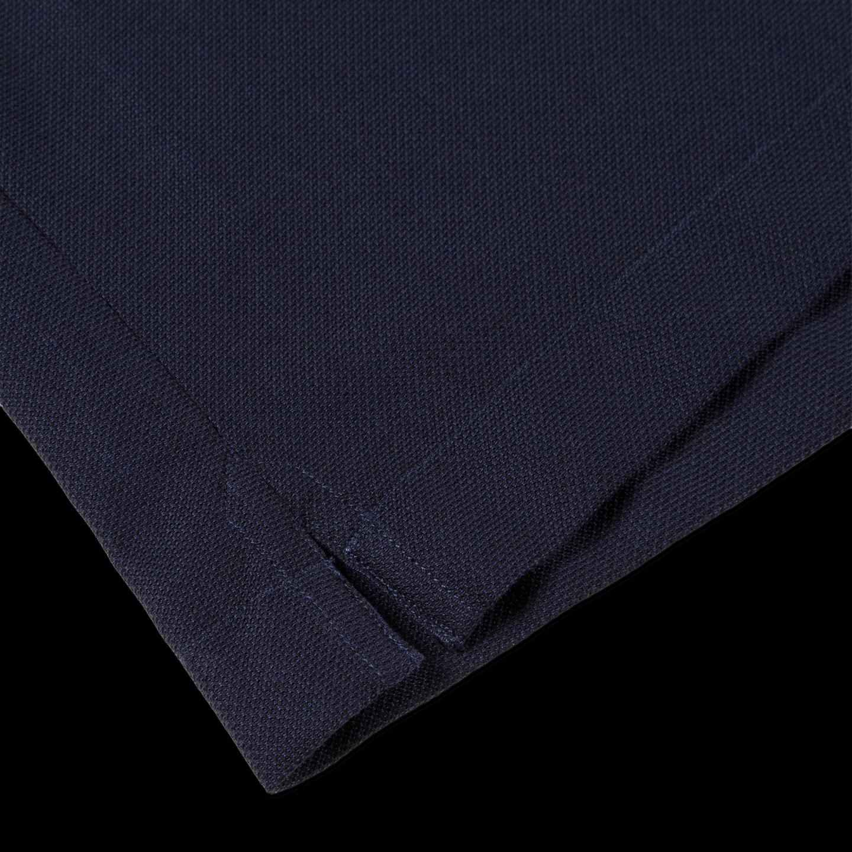 Sunspel Navy Short Sleeve Jersey Polo Shirt Edge