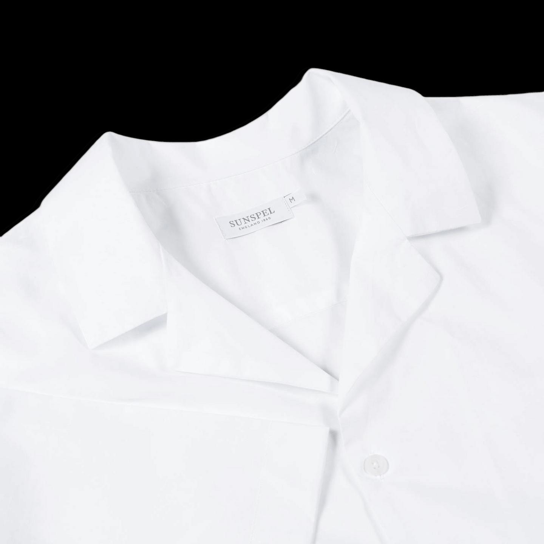 15bf69b1 Sunspel-White-Short-Sleeve-Jersey-Polo-Shirt-Collar - Baltzar