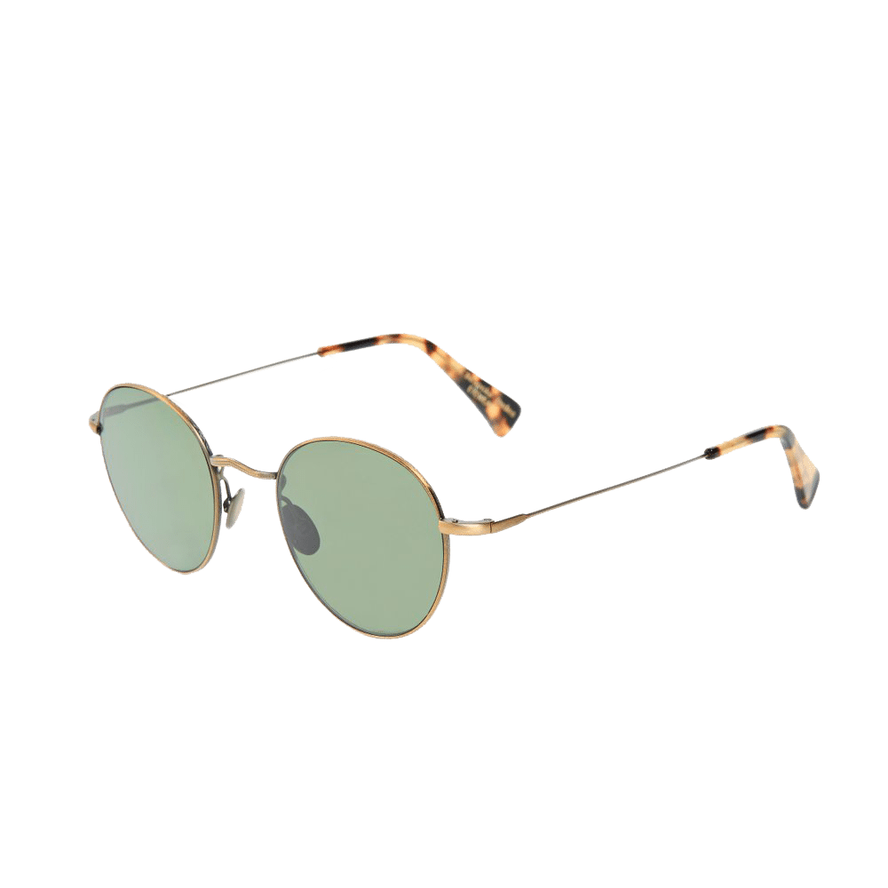 The Bespoke Dudes Eyewear Vicuna Brass Metal With Bottle Green Lenses Front