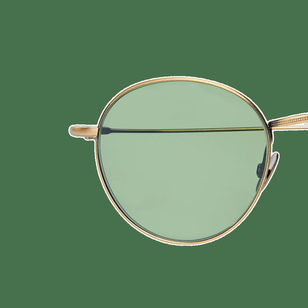 The Bespoke Dudes Eyewear Vicuna Brass Metal With Bottle Green Lenses Lens