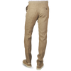Berwich Beige Double Pleated Linen Trousers Back
