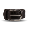 Canali Dark Brown Crocodile Belt Feature