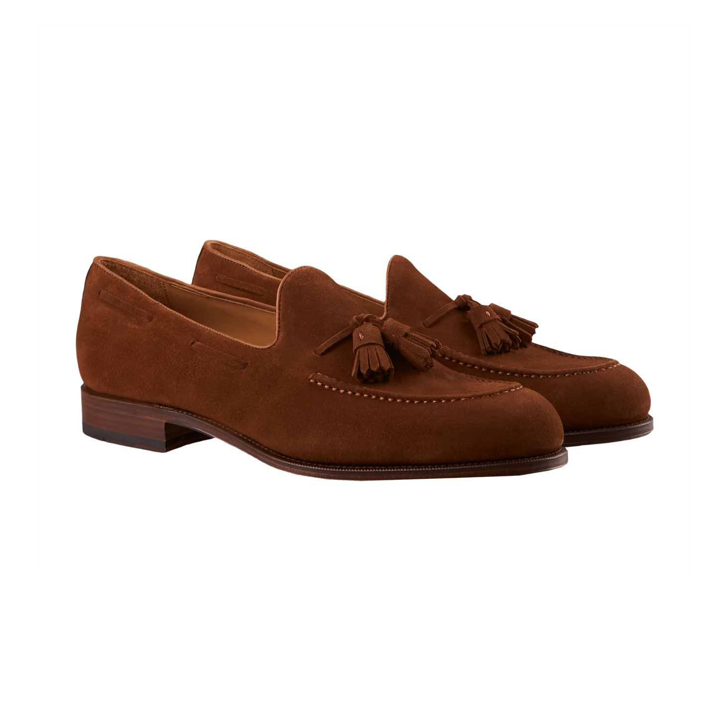 Carmina Brown Polo Suede Forest Tassel Loafers Front