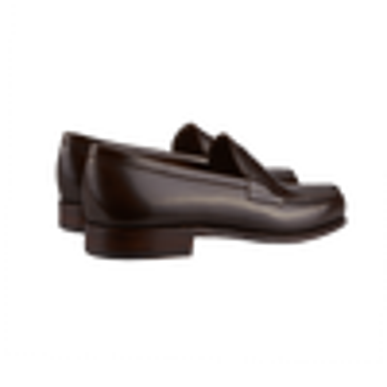 Carmina Dark Brown Calf Genova Penny Loafers Back