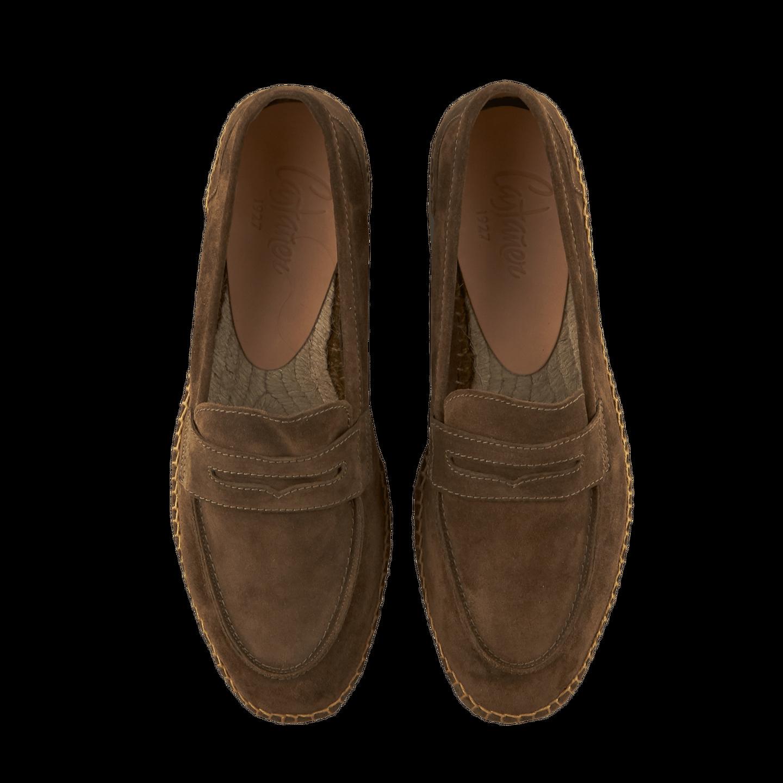 75de6aba0 Castañer - Brown Suede Nacho Casual Loafers | Baltzar