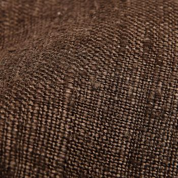 Drake's Brown Handrolled Silk Tussah Tie Fabric