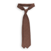 Drakes Brown Woven Tussah Silk Tie Feature