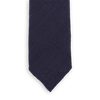 Drakes Navy Handrolled Silk Tussah Tie Front
