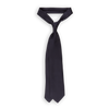 Drakes Navy Solid Super Repp Woven Silk Tie Feature
