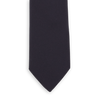Drakes Navy Solid Super Repp Woven Silk Tie Front