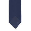 Drakes Petrol Handrolled Fine Woven Grenadine Tie Front