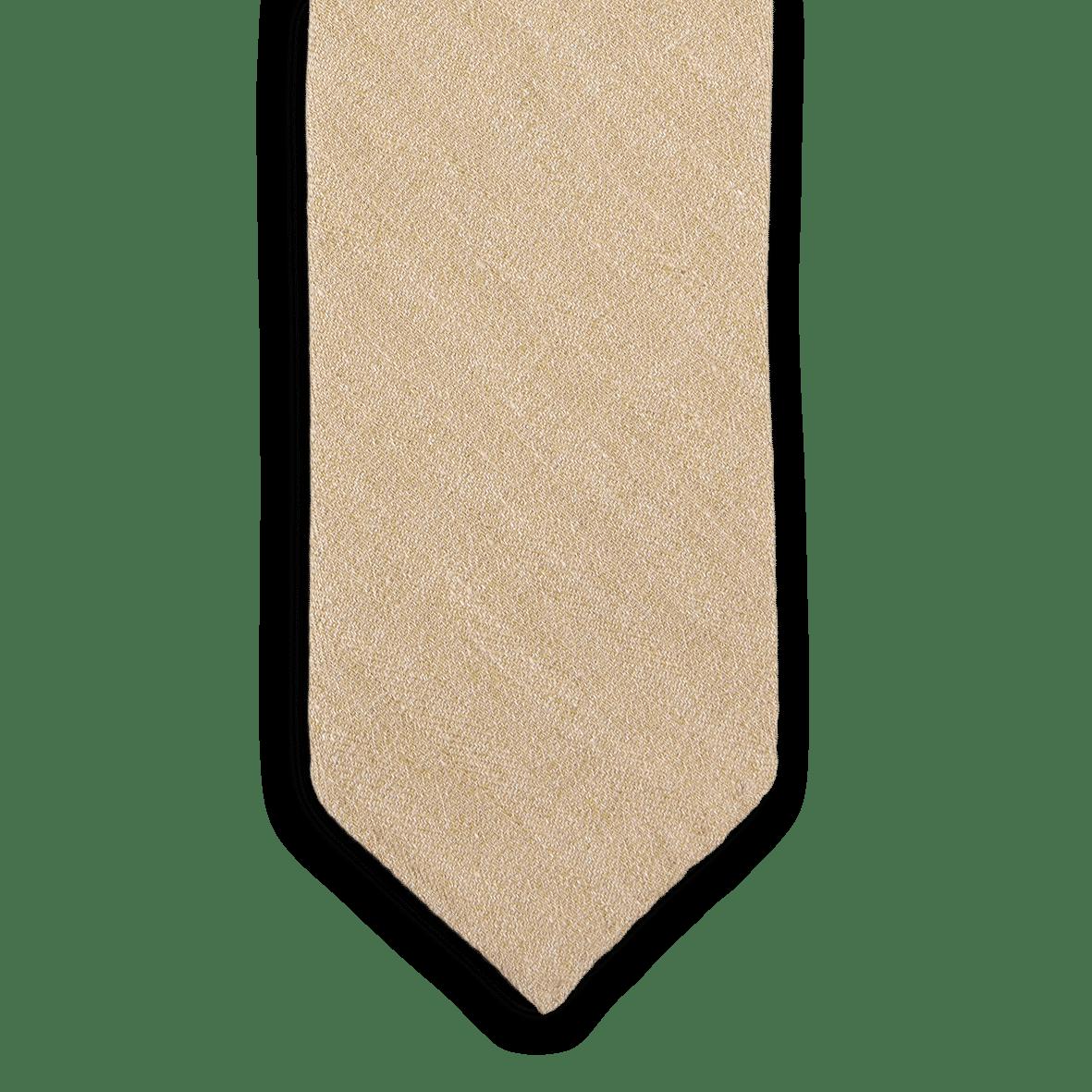 Drakes Stone Woven Herringbone Linen Front