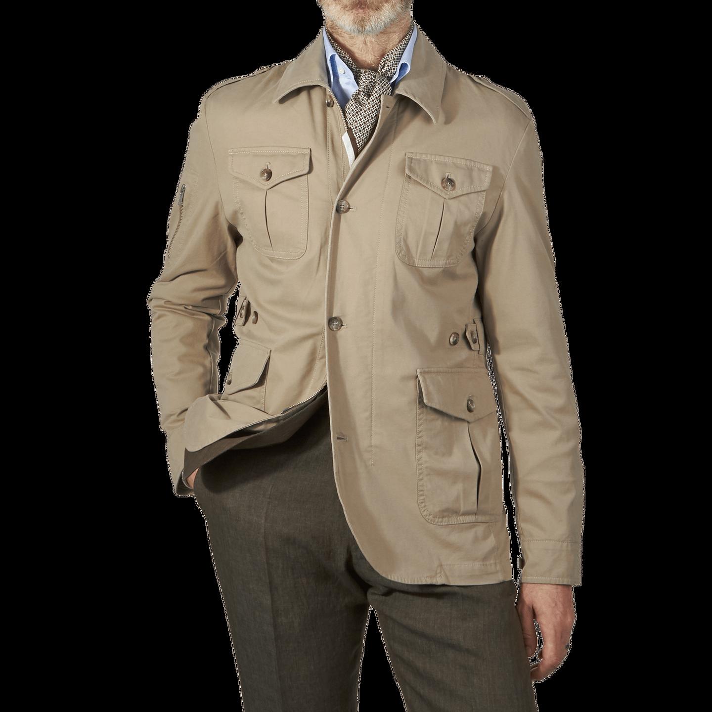 Morris Heritage Khaki Millard Jacket Front