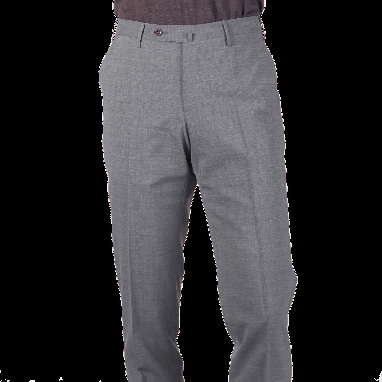 PT01 Medium Grey Wool-Stretch Trouser Front