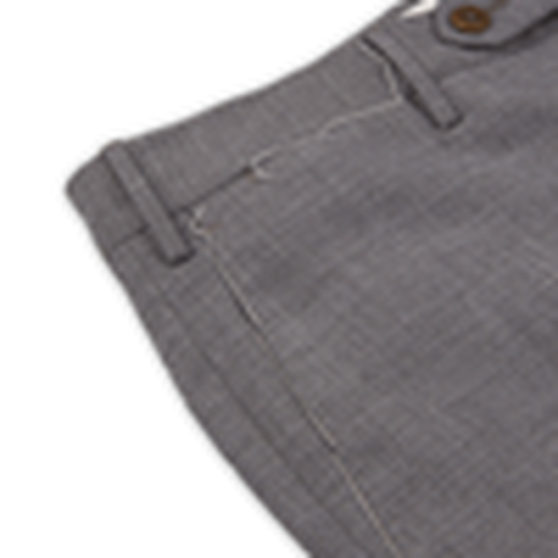 PT01 Medium Grey Wool-Stretch Trouser Pocket