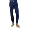 PT01 Navy Blue Straight Leg Cotton Jeans Front