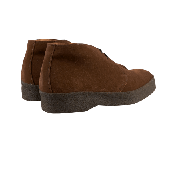 Sanders Brown Snuff Suede High-Top Chukka Boots Back