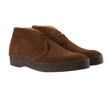 Sanders Brown Snuff Suede High-Top Chukka Boots Front