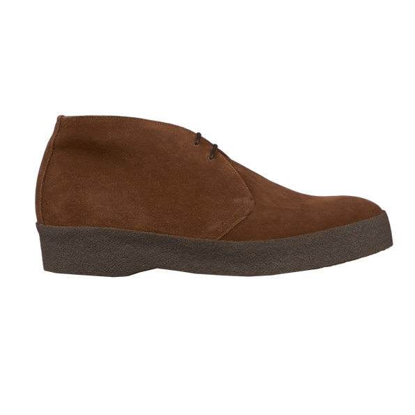 Sanders Brown Snuff Suede High-Top Chukka Boots Side