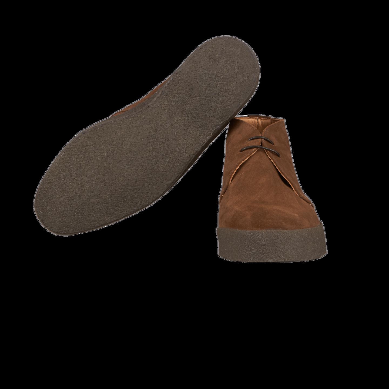 Sanders Brown Snuff Suede High-Top Chukka Boots SideSanders Brown Snuff Suede High-Top Chukka Boots Sole
