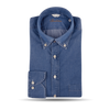 Stenströms Blue Washed Denim Fitted Body Popover Shirt Feature