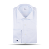 Stenströms White Striped Cotton Cut-Away Fitted Body Single Cuff Shirt Feature