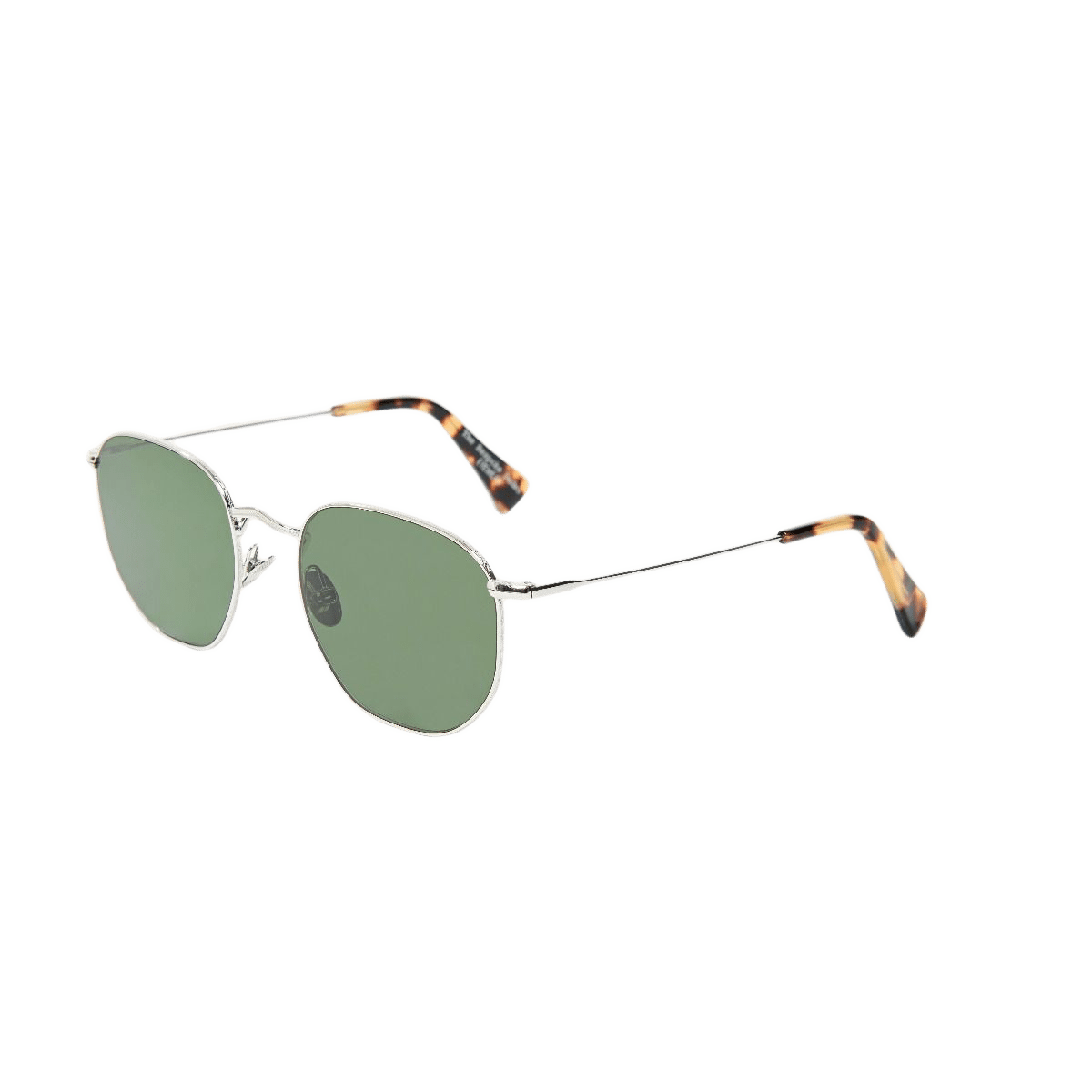 The Bespoke Dudes Mohair Rhodium with Bottle Green Lenses Feature