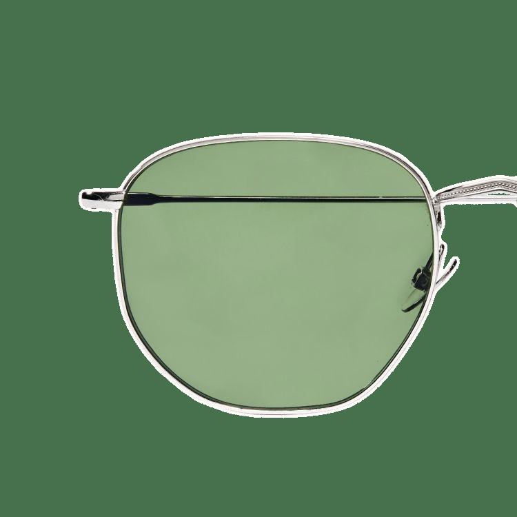 The Bespoke Dudes Mohair Rhodium with Bottle Green Lenses Lens