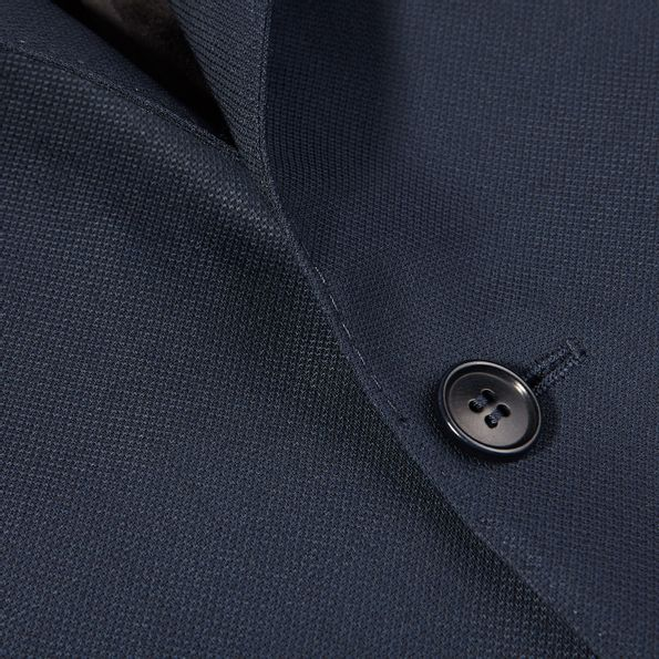 Canali Navy Wool Impeccabile Travel Blazer Closed