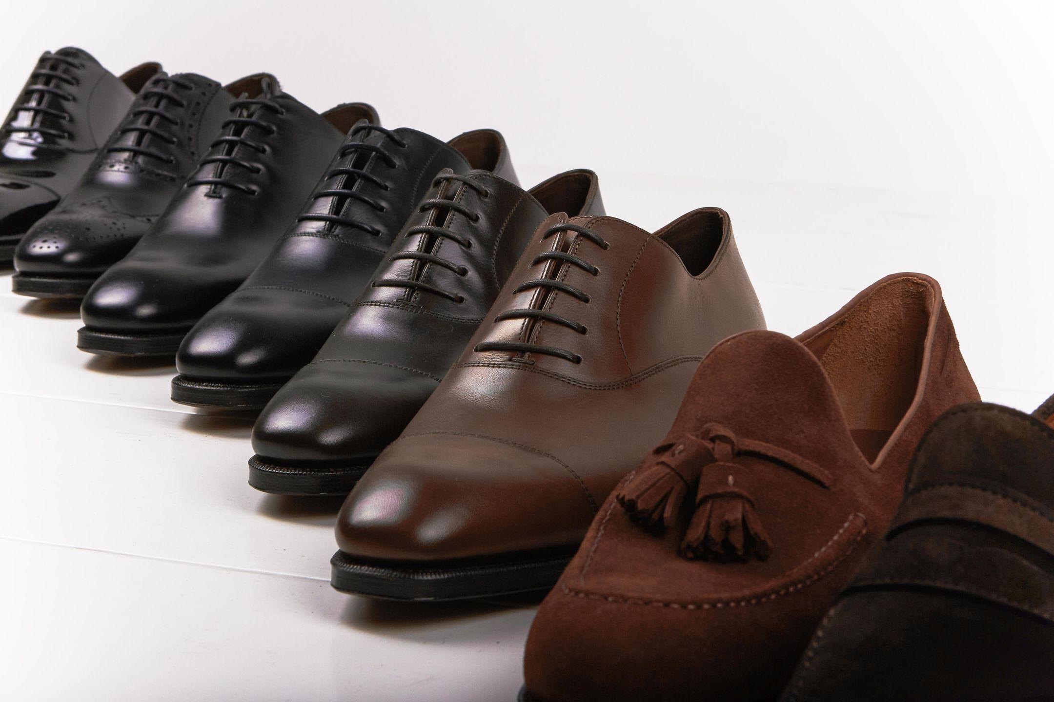 Carmina shoes on a line
