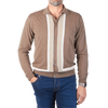 Luciano Barbera Brown Cardigan Front