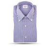 Mazzarelli Navy and White Bengal Striped Shirt Feature