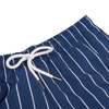 Suit Up Weird Blue Pinstripe Daiquiri Swim Shorts Pocket Edge