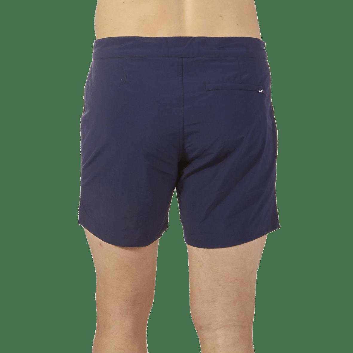 Sunspel Navy Swim Shorts Back